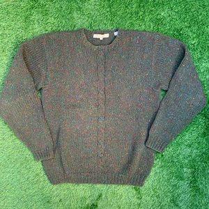 Vintage Perry Ellis 100% Wool Knit Sweater Large